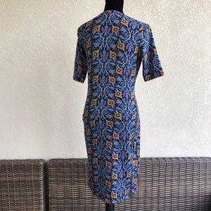 LuLaRoe Dresses - LuLaRoe Julia Dress Black Purple Blue Orange S NEW